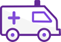 Ambulance purple
